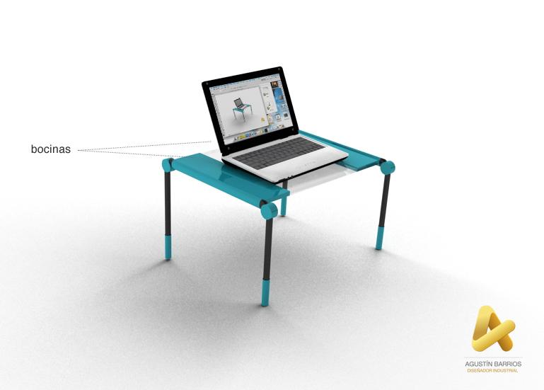 Dise o de mesa de cama para laptop d i agust n barrios for Diseno de mesa de computadora